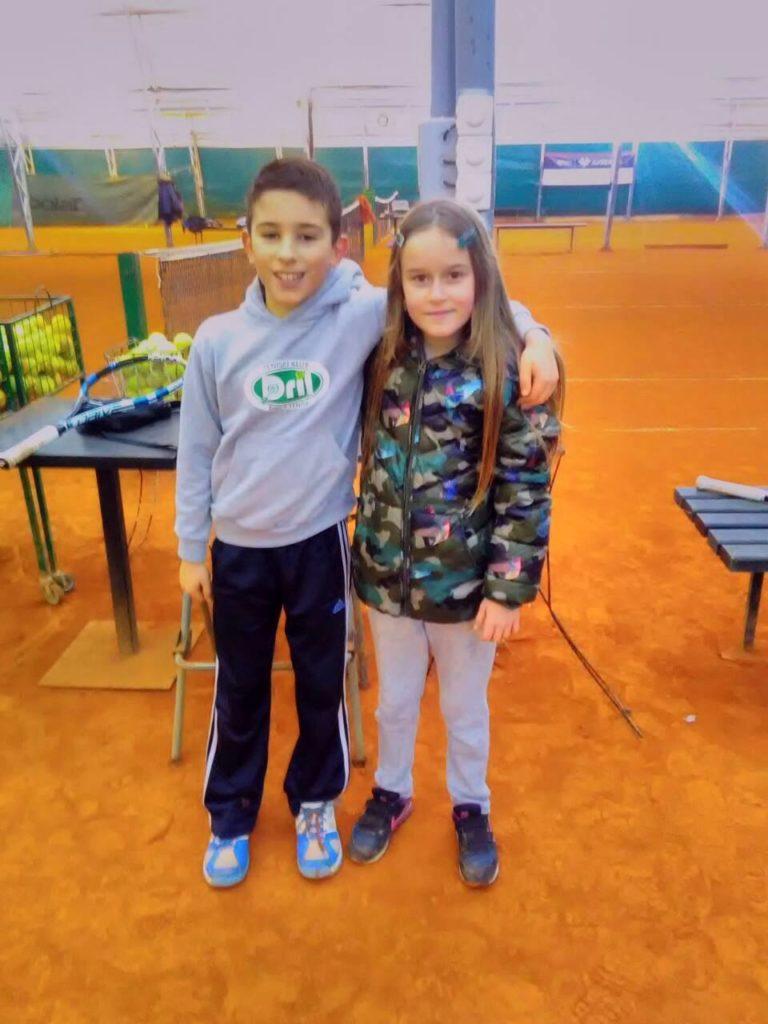Elena Dušanović i Vuk Kilibarda teniski klub Dril