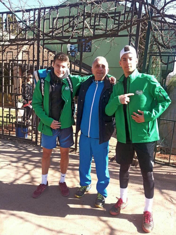 Luka Kalinić, Dragan Ilić, Leon Nikolić - teniski klub Dril Beograd