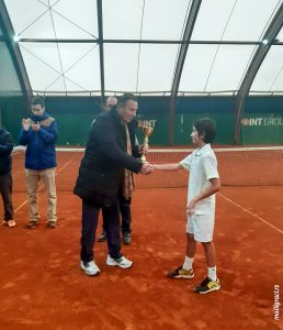 Ognjen Milić (teniski klub Dril Beograd) i Nikola Pilić