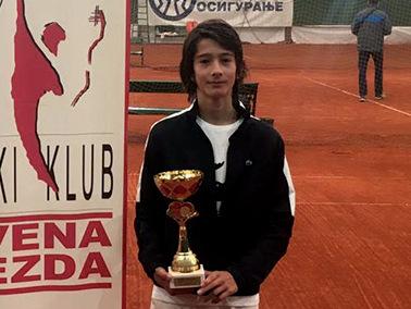 European champion Ognjen Milic tennis club Dril Belgrade Serbia